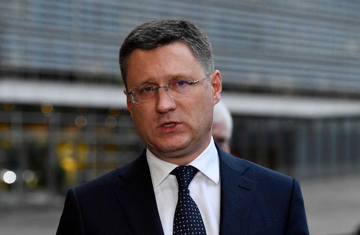 File photo of Russian Minister of Energy Alexander Novak. (AFP)