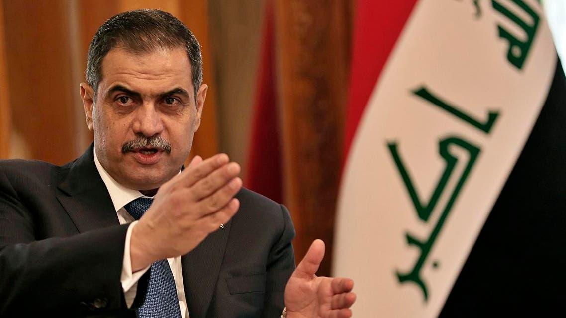 Iraqi Defense Minister Najah al-Shammari speaks to journalists after his meeting with U.S. Defense Secretary Mark Esper, in Baghdad, Iraq, Wednesday, Oct. 23, 2019. (AP)