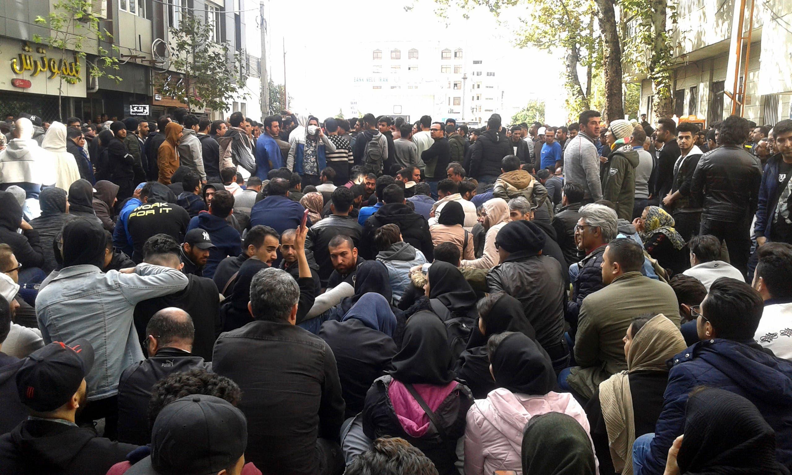 من تظاهرات نوفمبر في إيران (أرشيفية- فرانس برس)