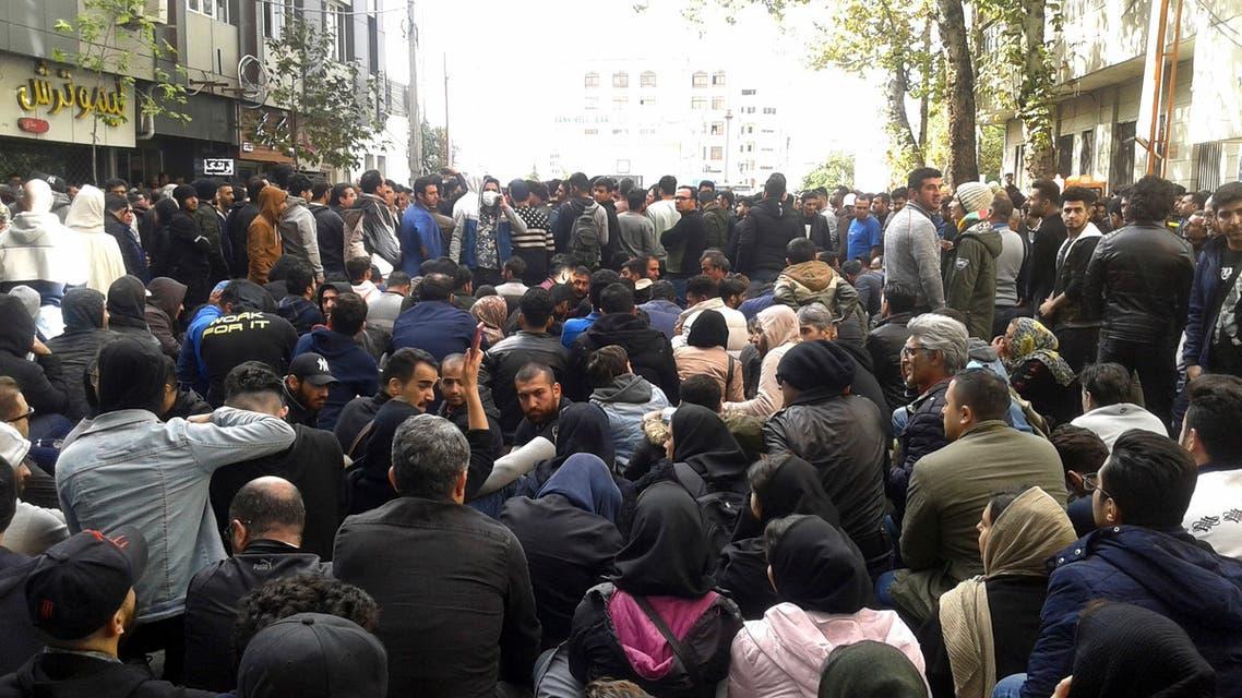 تظاهرات إيران 16 نوفمبر اسوشيتد برس