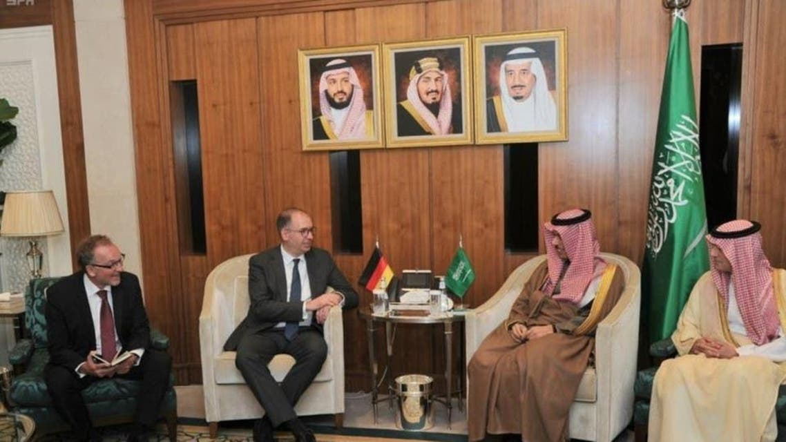Saudi and German foreign minster meeting