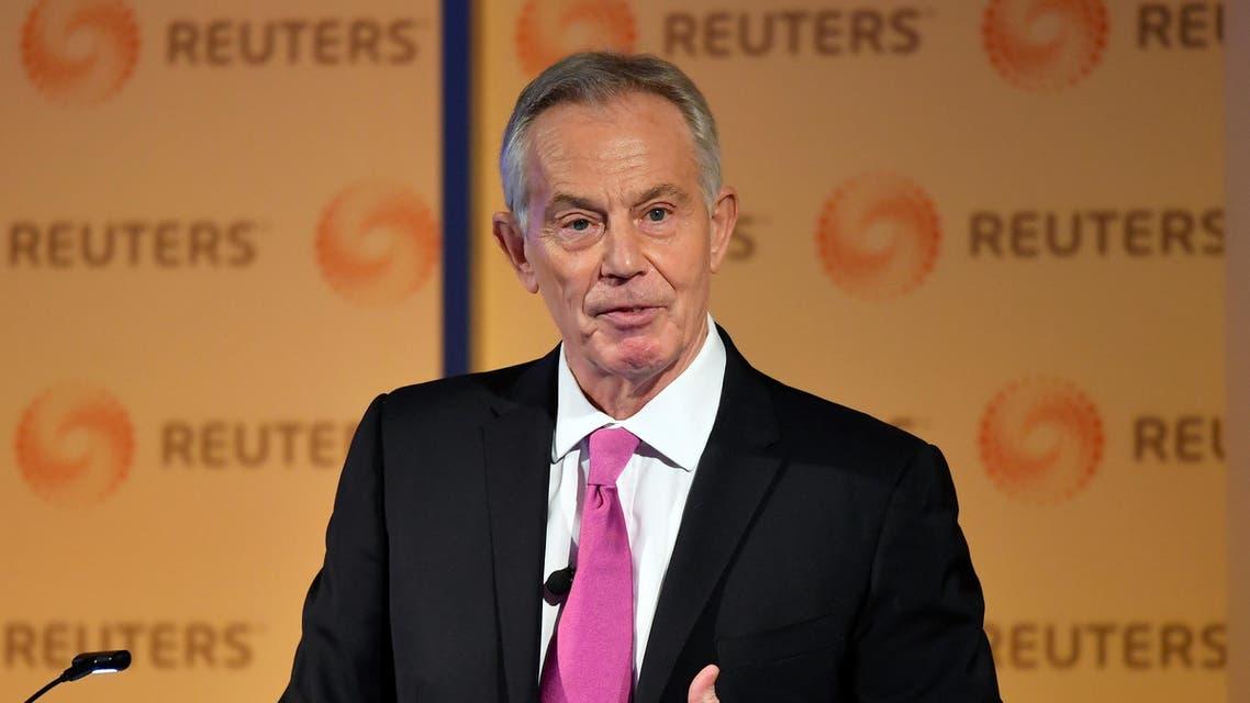 Tony Blair speaking at Reuters on November 25, 2019 - Reuters