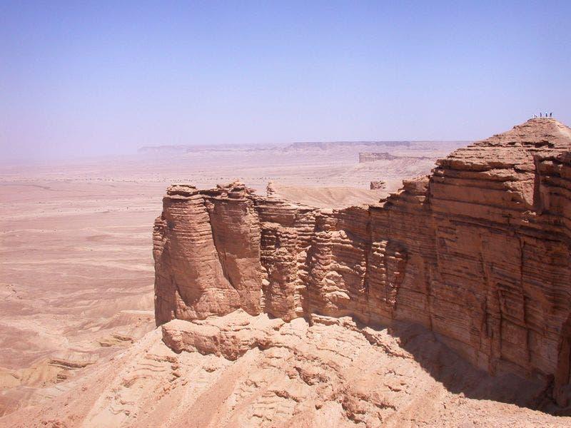 حافة العالم في الشمال الغربي من الرياض