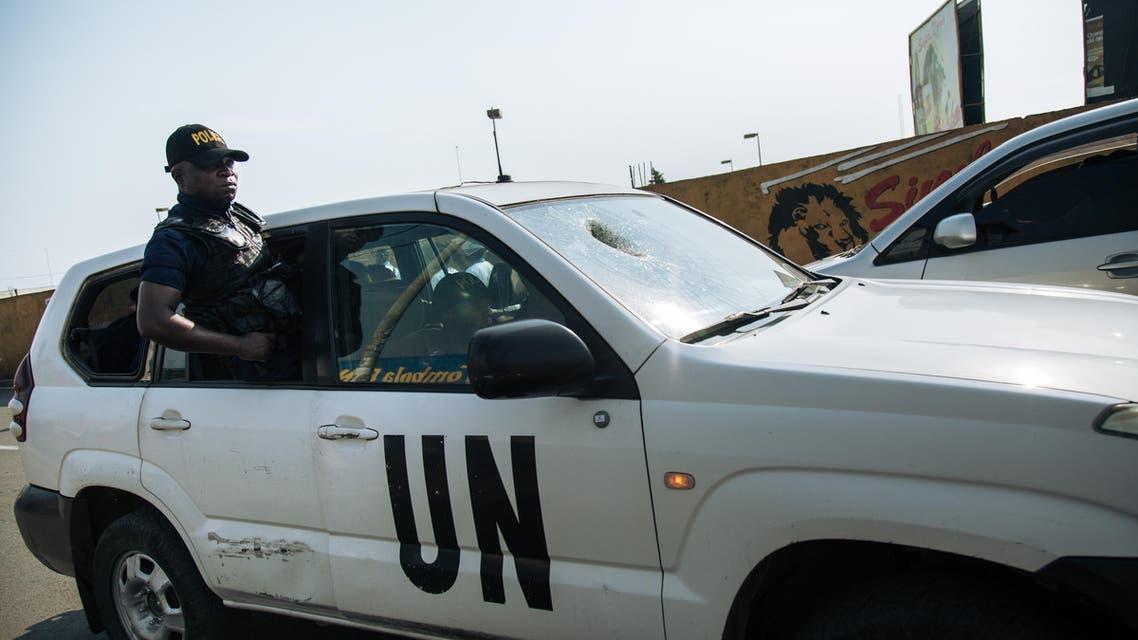 MONUSCO UN peackeeper in Goma, Congo, 2018