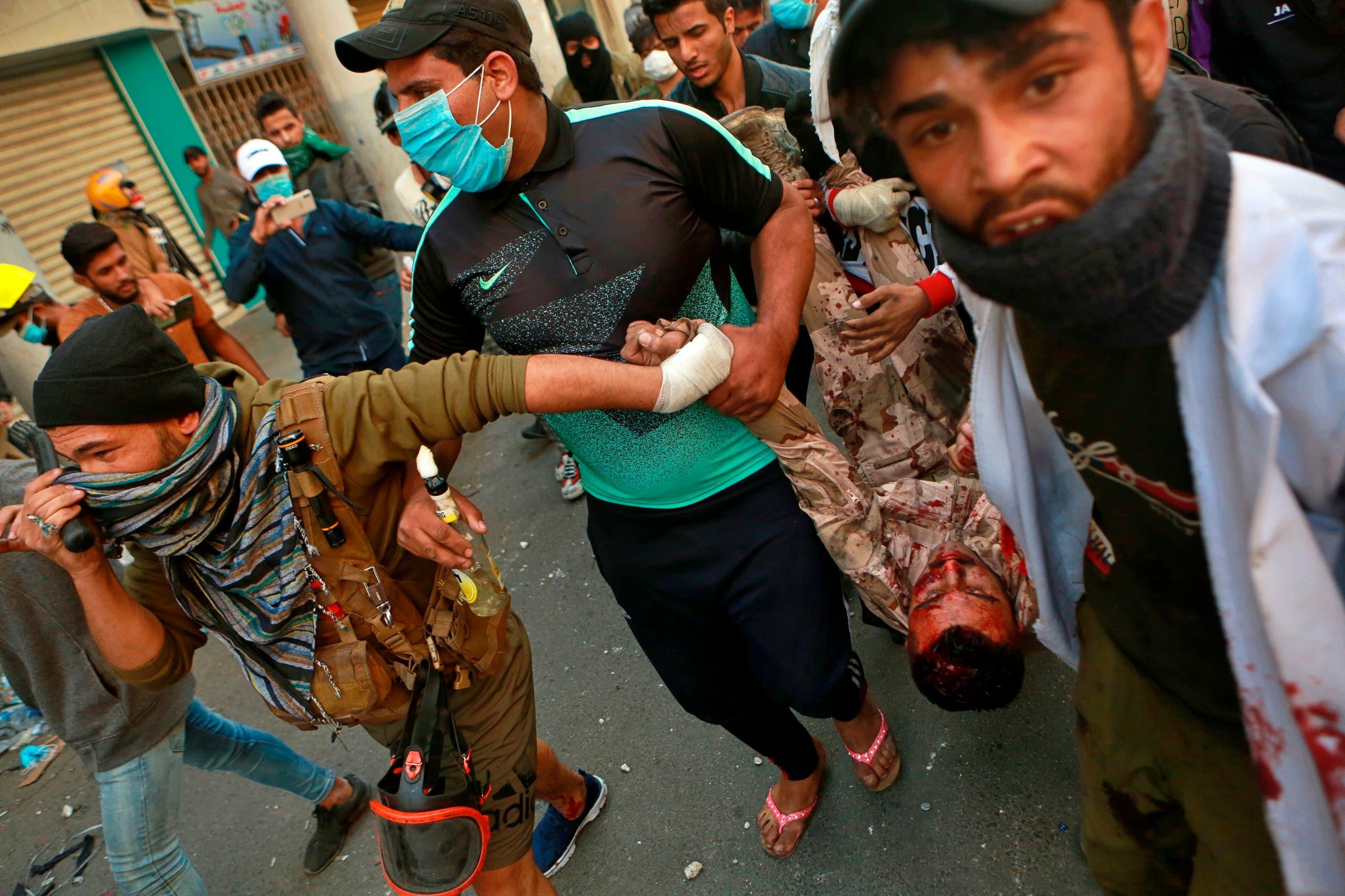 اصابة رجل أمن في بغداد