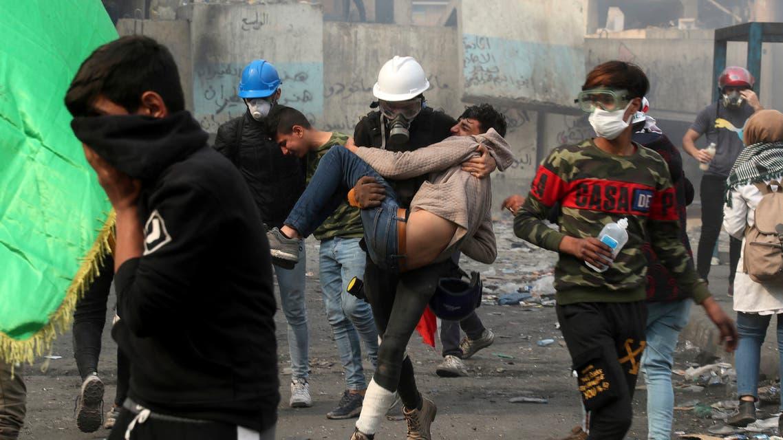من تظاهرات بغداد - اسوشيتد برس