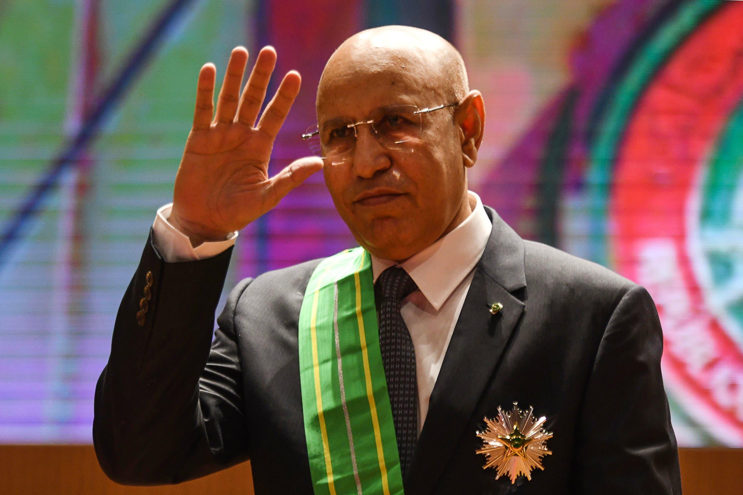 الرئيس الموريتاني الحالي ولد الشيخ الغزواني (فرانس برس)