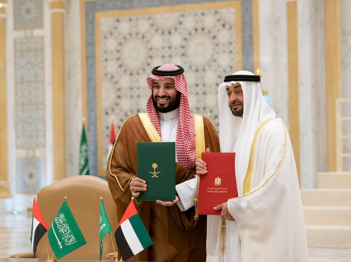 Sheikh Mohammed bin Zayed and Saudi Crown Prince Mohammed bin Salman chaired the second meeting of the Saudi-UAE Coordination Council, which was held in Abu Dhabi. (Supplied)