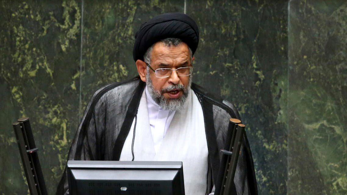 Iranian Intelligence Minister Mahmoud Alavi answers questions from lawmakers in an open session of parliament in Tehran, Iran, Tuesday, Oct. 25, 2016. (AP)