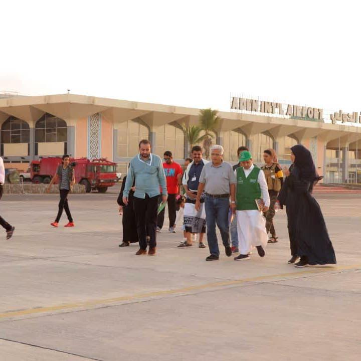 البرنامج السعودي لإعمار اليمن يدرس احتياجات مطار عدن
