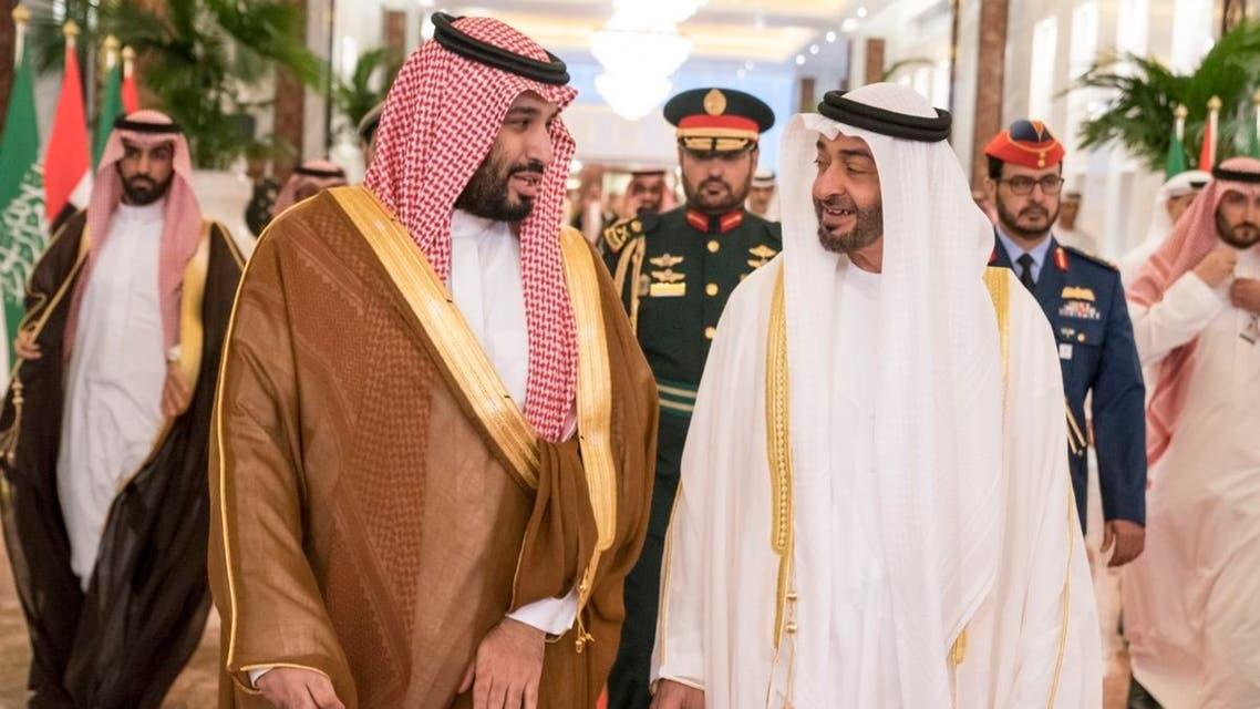 ولي عهد أبوظبي الشيخ محمد بن زايد وولي العهد السعودي الأمير محمد بن سلمان