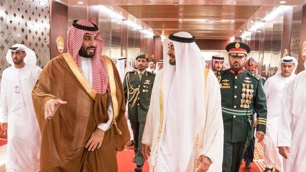 Saudi Crown Prince welcomed to UAE in official visit