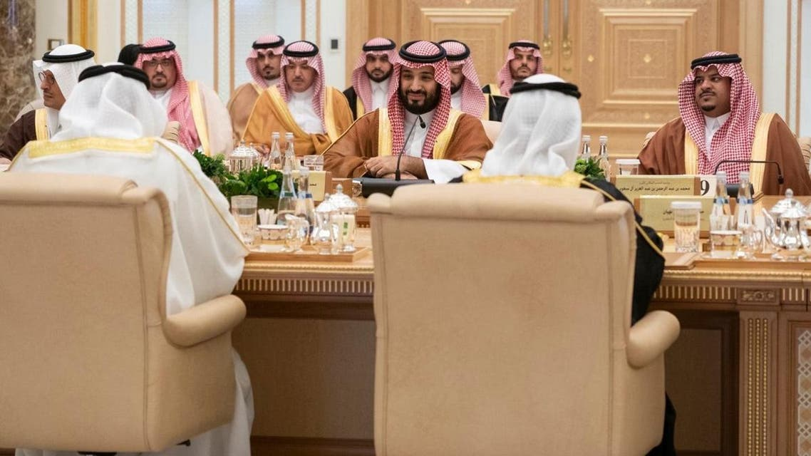 Mohammed bin Salman, Crown Prince and Deputy Prime Minister and Minister of Defense of Saudi Arabia, at the Saudi-UAE Coordination Council meeting in Abu Dhabi on November 27, 2019. (Supplied)