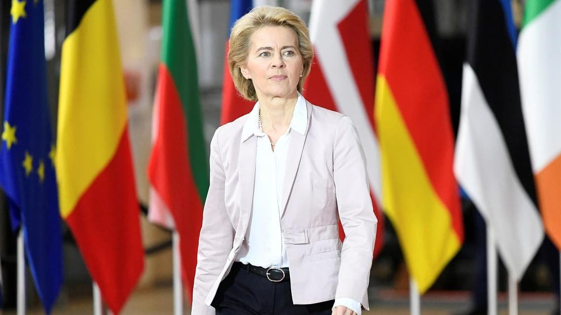 European Commission president-elect Ursula Von der Leyen arrives for the second day of the European Union leaders summit dominated by Brexit, in Brussels, Belgium October 18, 2019. REUTERS