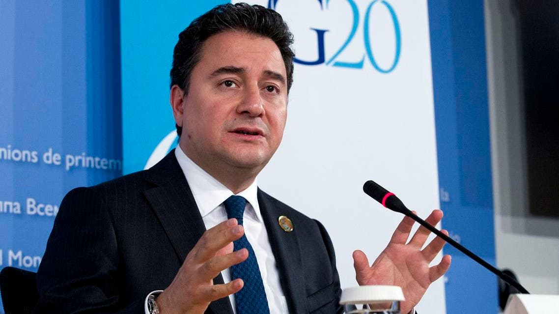 File photo of Ali Babacan, Turkey's former economy minister Ali Babacan. (AP)