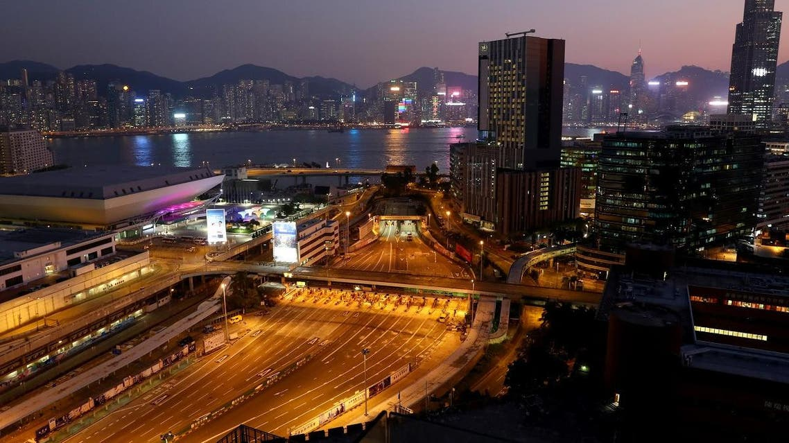 A general view with the bridge that gives access to the Cross-Harbour Tunnel from the campus of the Hong Kong Polytechnic University (PolyU), in Hong Kong, China November 21, 2019. REUTERS