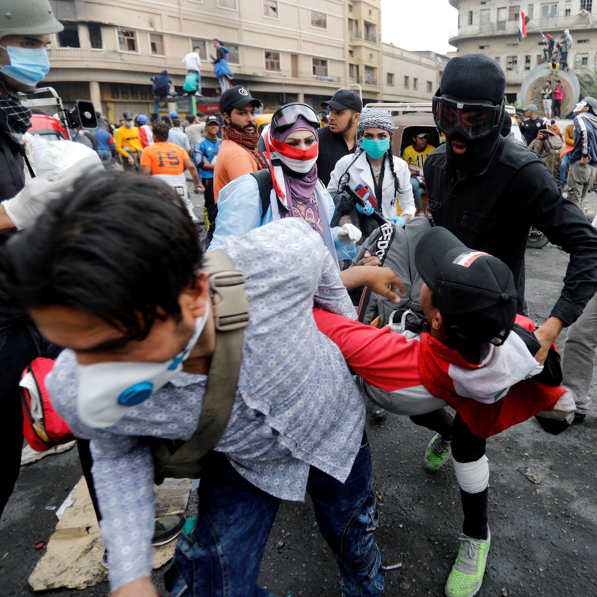 من بغداد لذي قار.. حالات قتل وقنابل غير مخصصة للتظاهرات