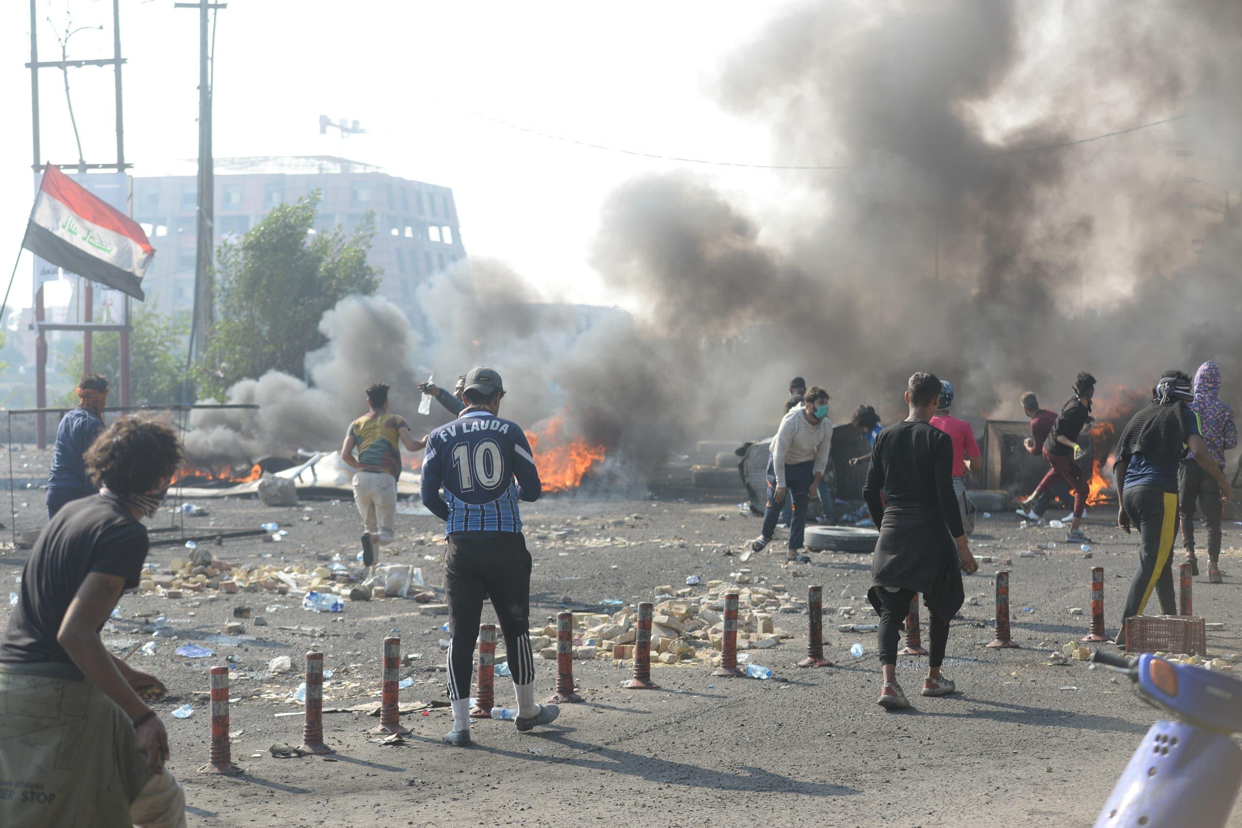 من اشتباكات الناصرية جنوب العراق