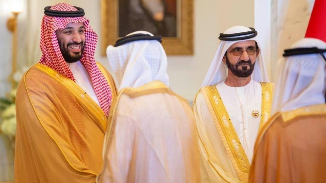الشيخ محمد بن راشد والأمير محمد بن سلمان