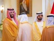 محمد بن راشد أثناء استقباله محمد بن سلمان: علاقاتنا مع السعودية استراتيجية