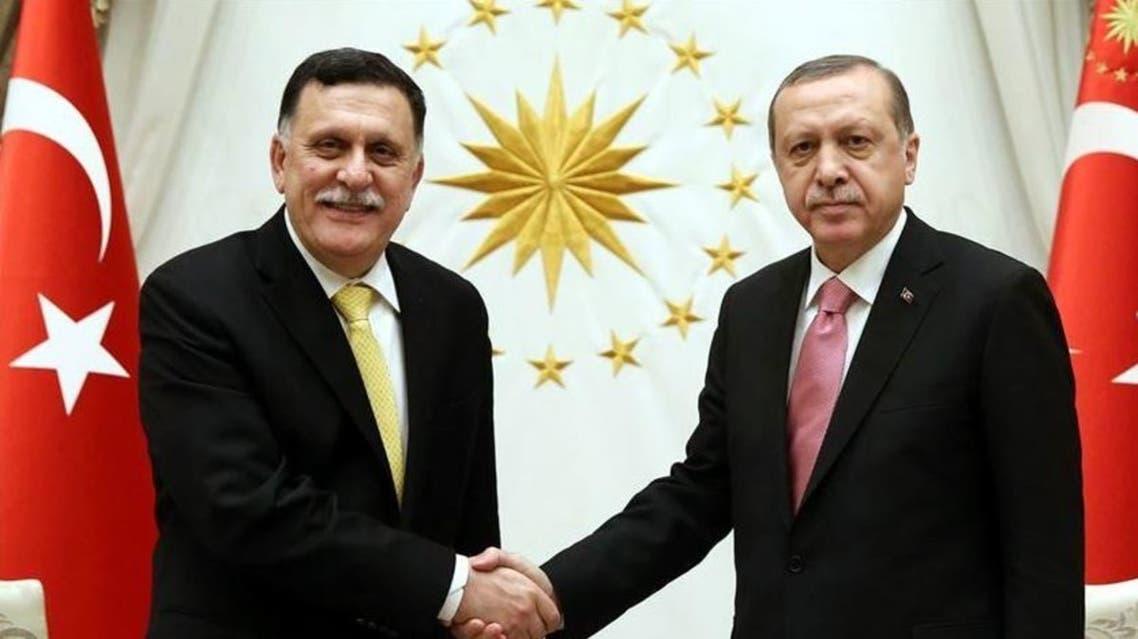 أردوغان يستقبل السراج