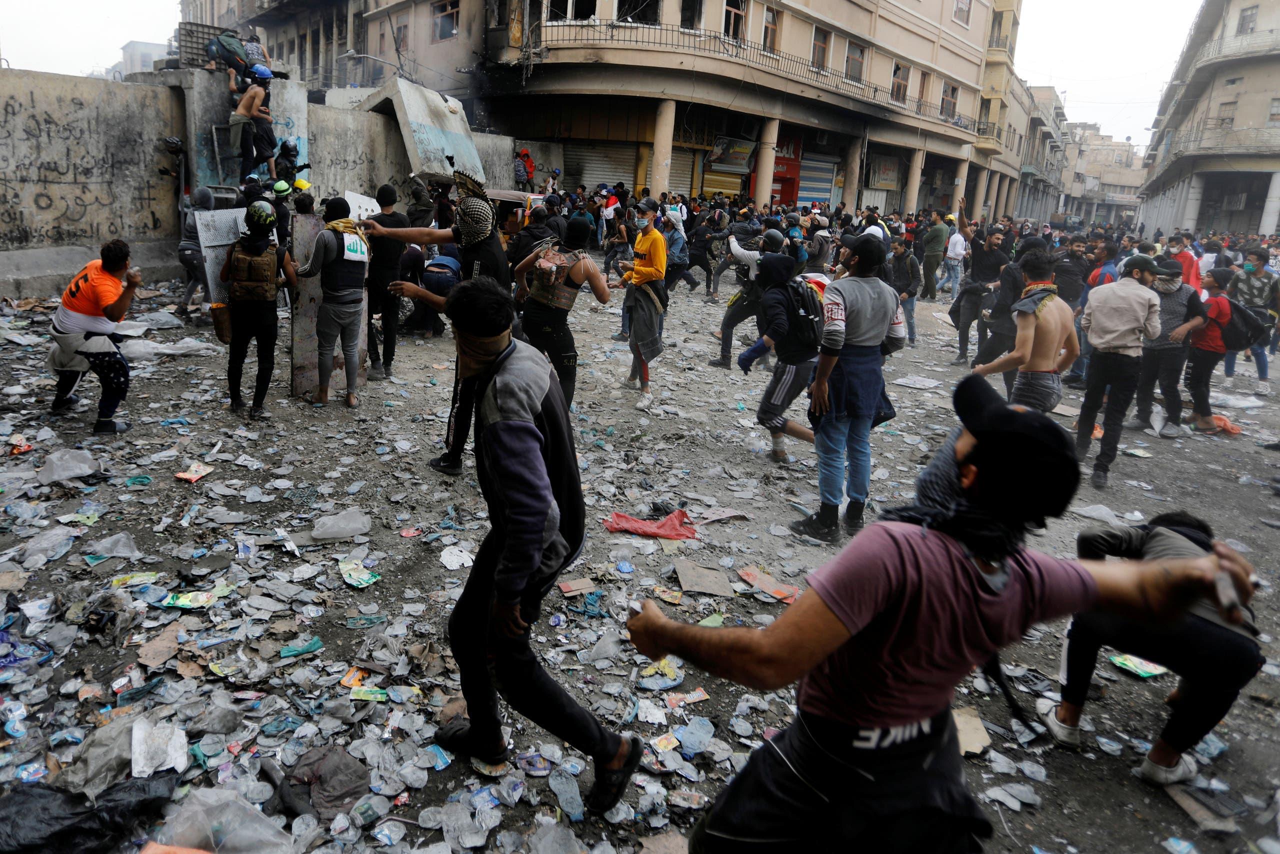 من الاحتجاجات جنوب العراق
