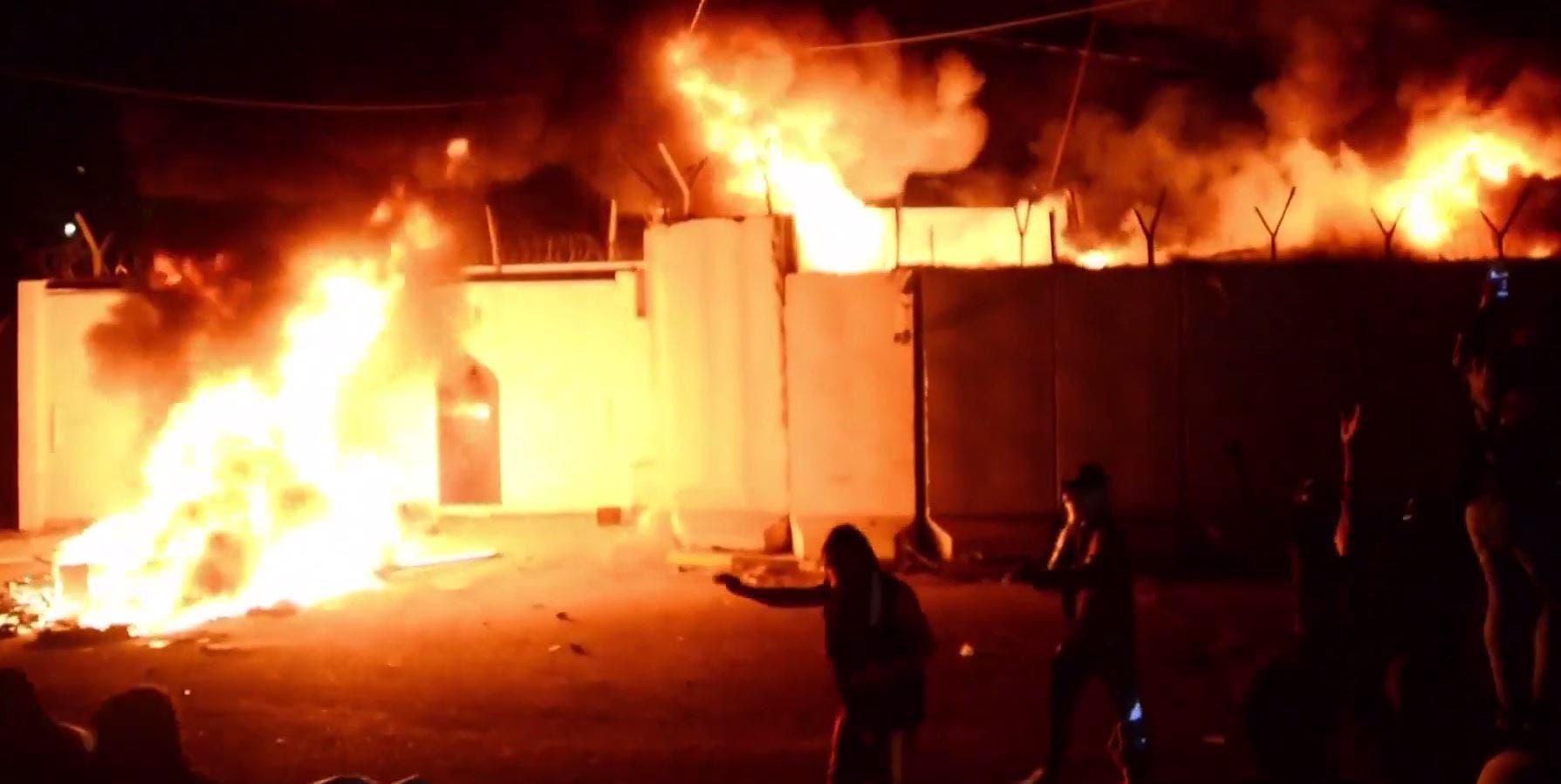 آتشزدن کنسولگری ایران در نجف