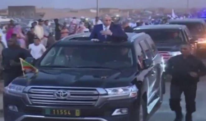 الرئيس الموريتاني خلال الاحتفال