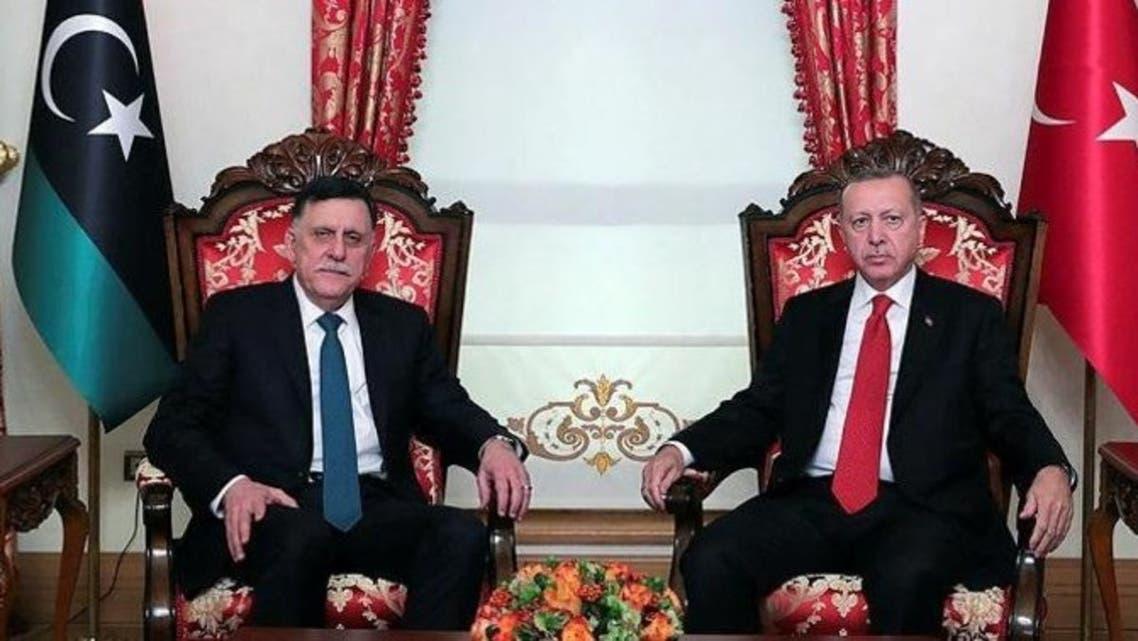 أردوغان السراج اردوغان
