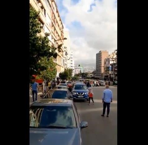 زحمة  على محطات الوقوقد في لبنان
