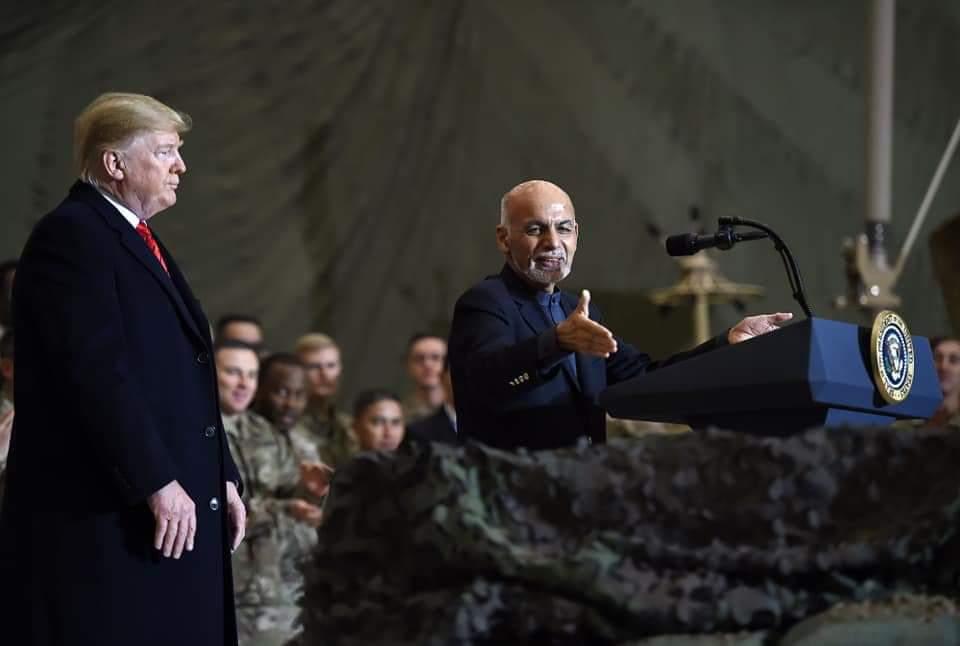 الرئيس الأفغاني أشرف غني وترمب