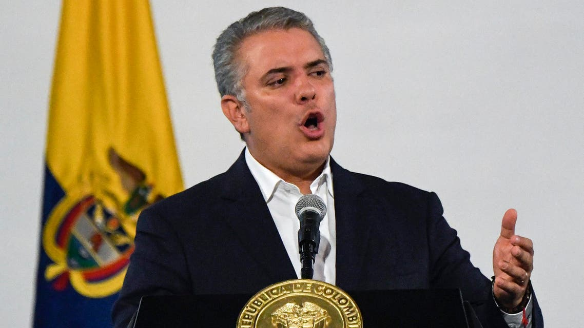 Colombia's Ivan Duque on November 24 after meeting mayors, 2019 - AFP