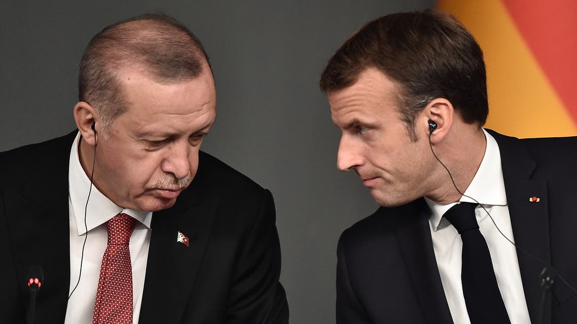 ماكرون وأردوغان في إسطنبول