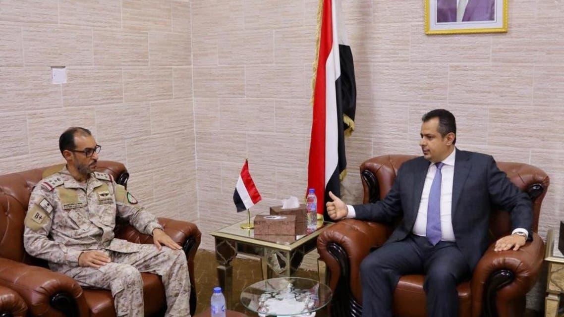 معين عبدالملك وقائد قوات التحالف