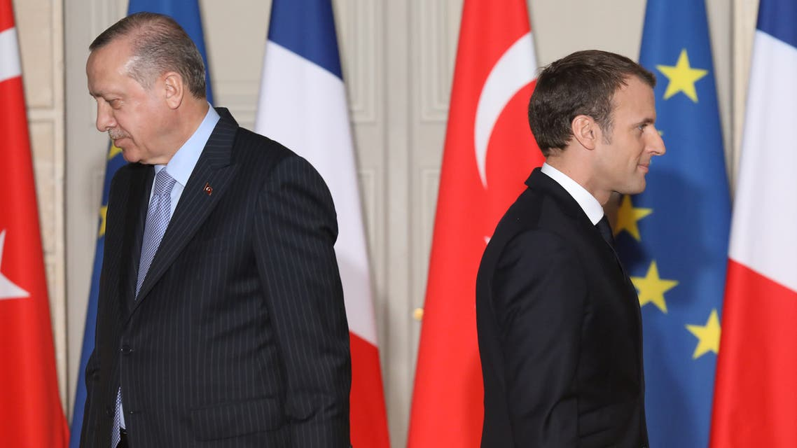 ماكرون وأردوغان في باريس
