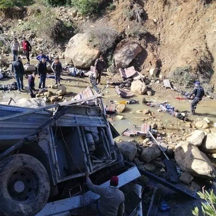 ارتفاع حصيلة قتلى حادثة الحافلة في تونس إلى 26