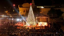Hundreds gather for Christmas tree lighting ceremony in Bethlehem
