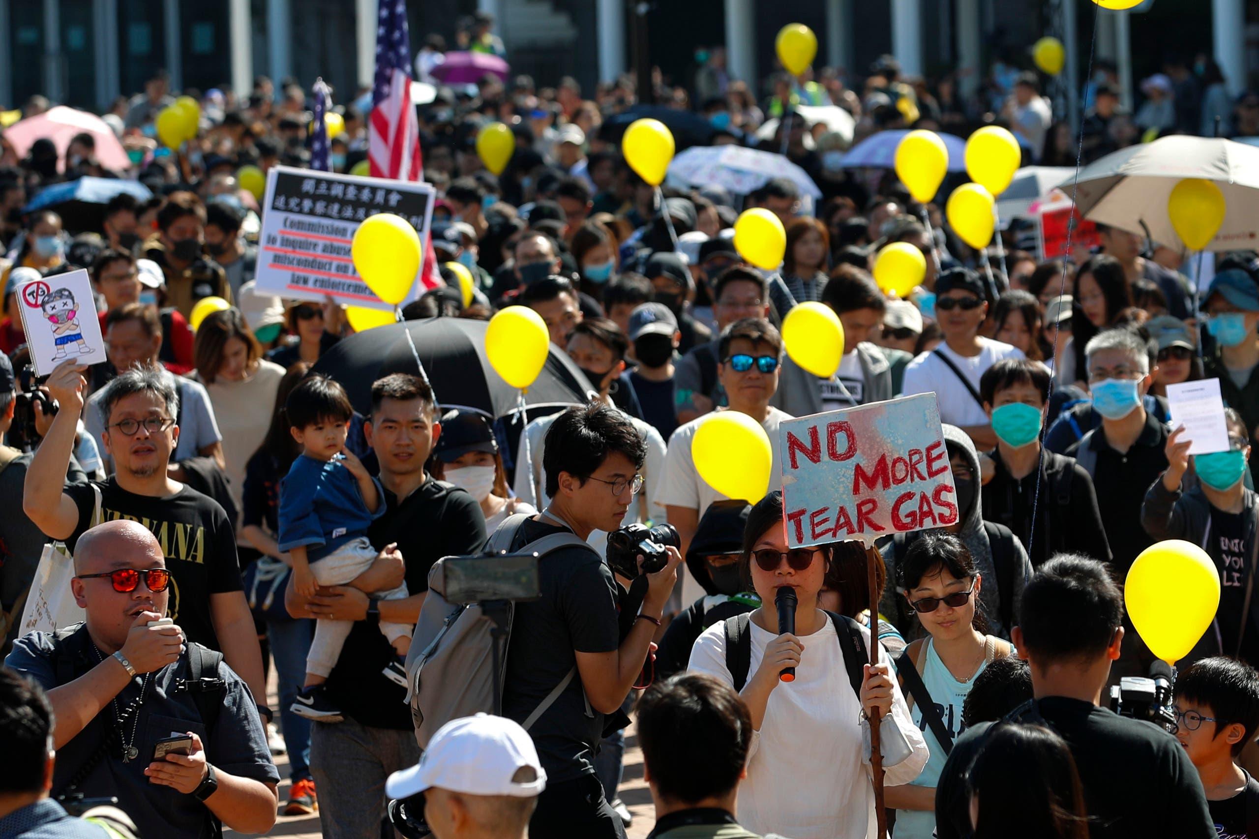 مسيرات في هونغ كونغ