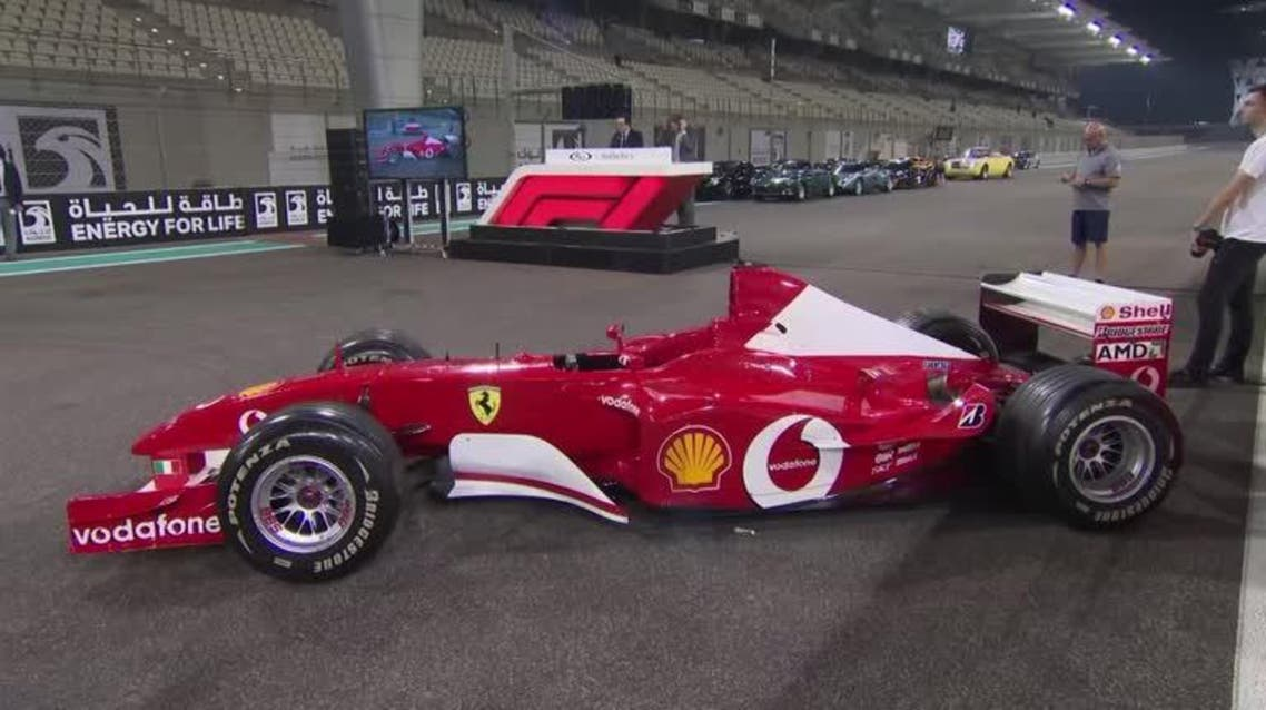 The F2002 was the headliner entering the auction with Schumacher having driven it to race wins at San Marino, Austria, and France during the 2002 F1 season. (Reuters)