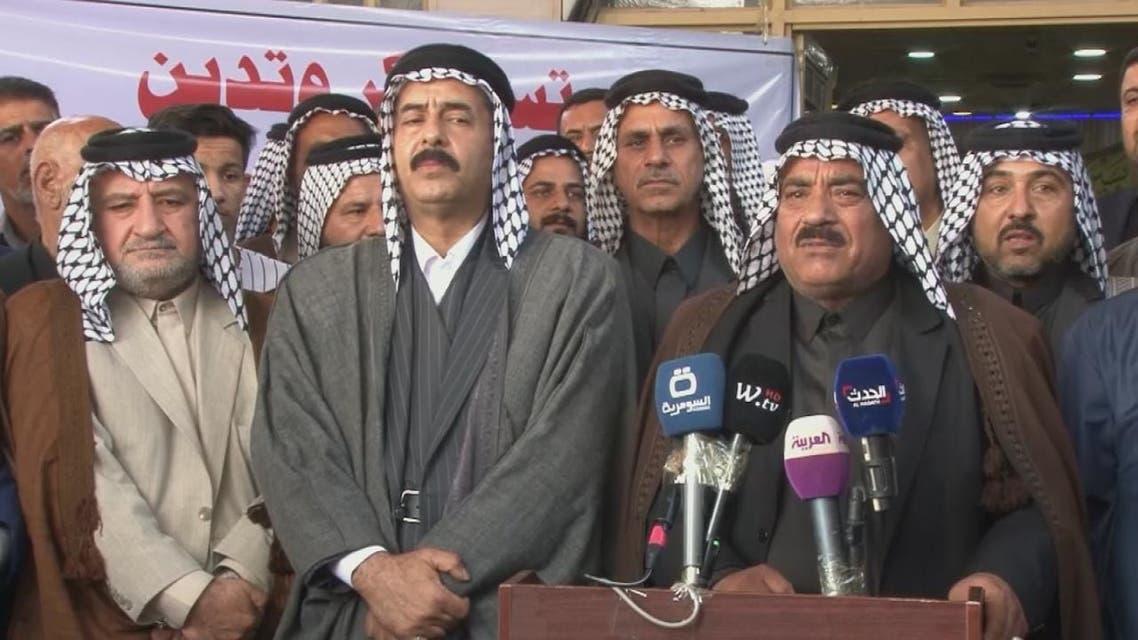 عشائر النجف تؤكد بقاءها في ساحات التظاهر لحين تغير البرلمان