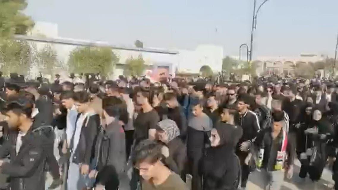 THUMBNAIL_ تظاهرات طلابية في جامعة البصرة دعما لمطالب الحراك