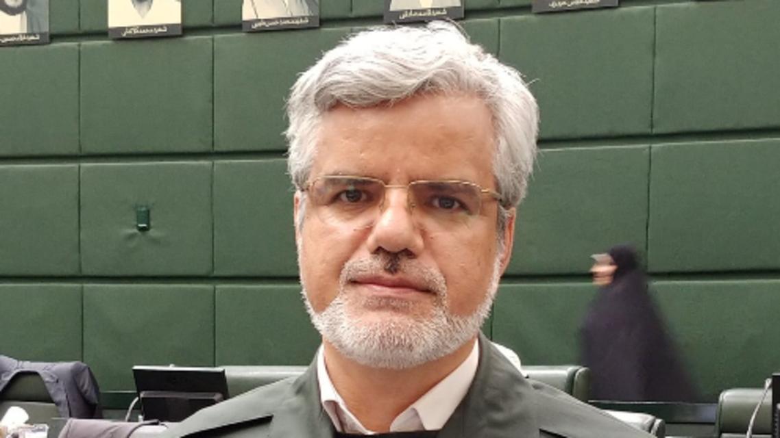 Mahmoud Sadeghi wearing IRGC uniform in parliament (Twitter)