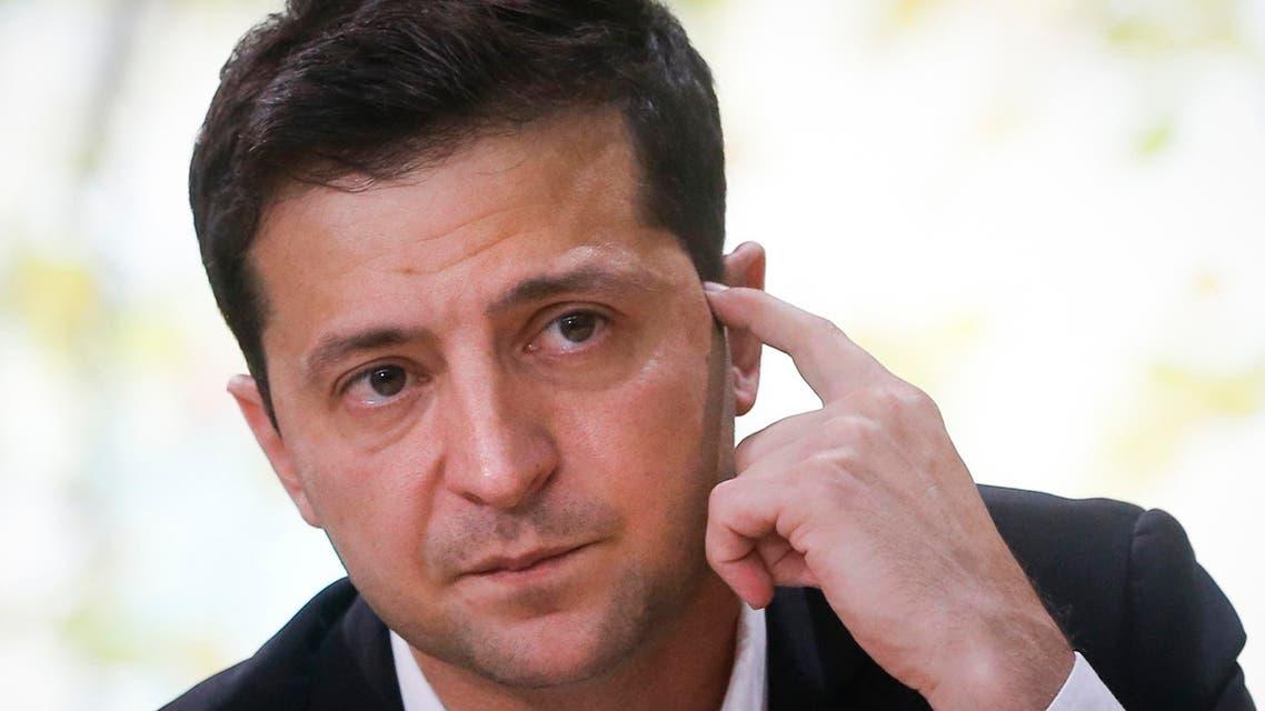 Ukraine President Volodymyr Zelensky - AP