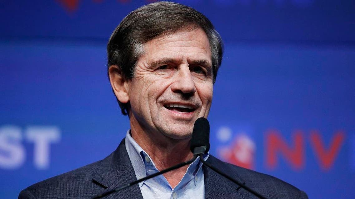 Democratic presidential candidate and former U.S. Rep. Joe Sestak speaks during a fundraiser for the Nevada Democratic Party, Sunday, Nov. 17, 2019, in Las Vegas. (AP Photo/John Locher)