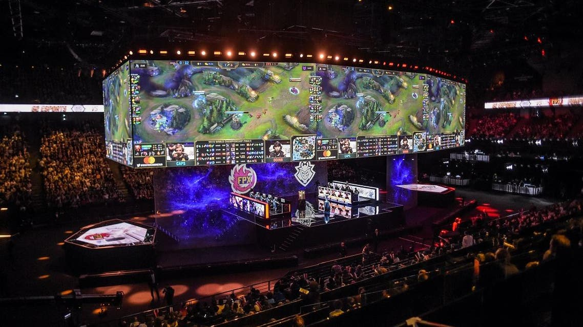 The League of Legends videogame world championship final, held on November 10, 2019 at the AccorHotels Arena in Paris. (AFP)