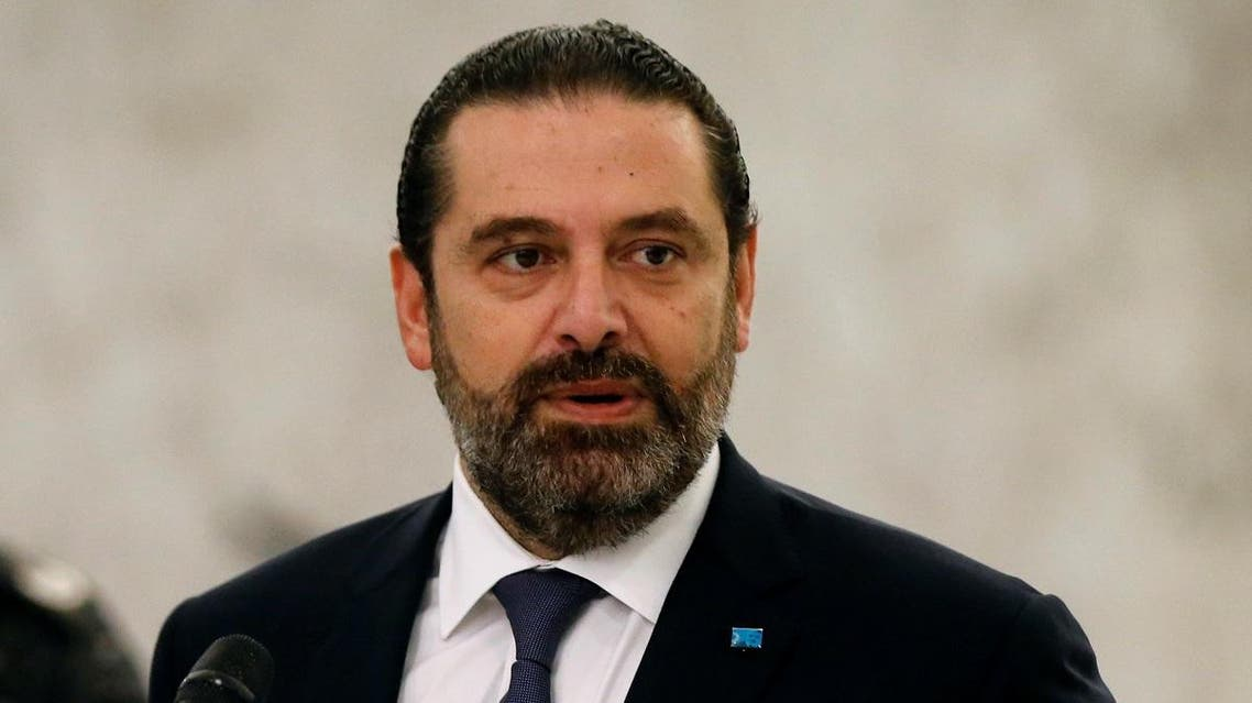 Lebanon's caretaker Prime Minister Saad al-Hariri speaks after meeting with President Michel Aoun at the presidential palace in Baabda. (File photo: Reuters)