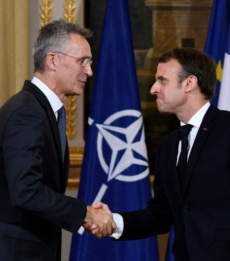 ماكرون مع أمين عام الناتو