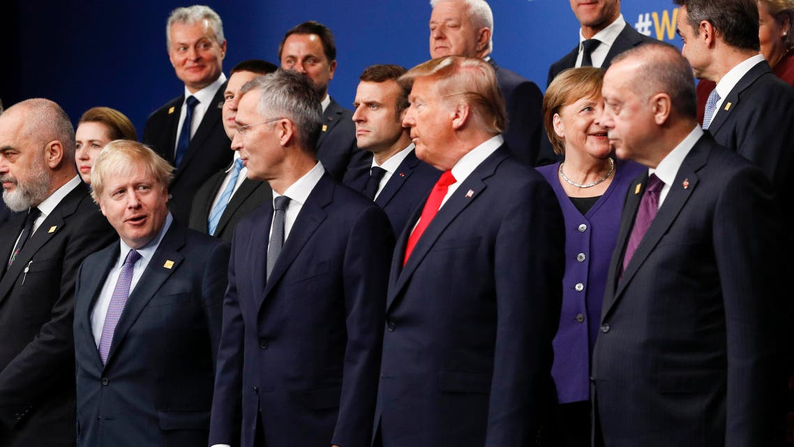 NATO leaders at NATO summit 4-12-19 - AFP
