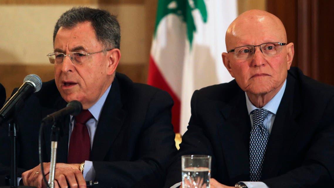 Fouad Siniora, Tammam Salam, 2013  - Reuters