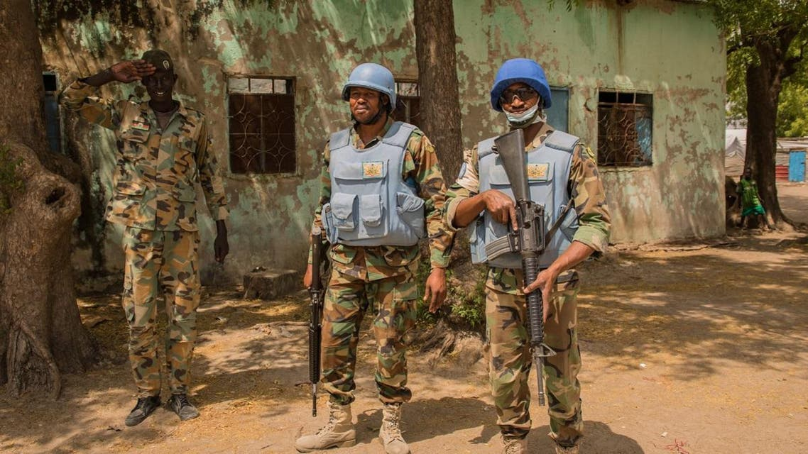 Ghanaian peacekeepers of the United Nations Mission in South Sudan (UNMISS) patrol on March 7, 2018. (File photo: Reuters)